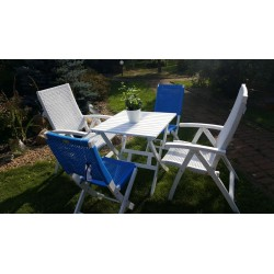 Плетеная мебель «Arizona Dream» white blue mix