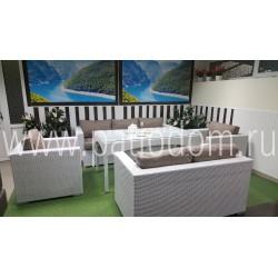Плетеная мебель «Louisiana» dining white&beige