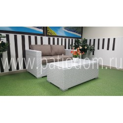 "Плетеная мебель ""Louisiana"" hall set white&beige"