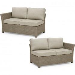 """Плетеный диван """"Adams"""" beige, торцевые секции"""