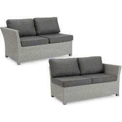 """Плетеный диван """"Adams"""" grey, торцевые секции"""
