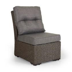 "Плетеный диван ""Ashfield"" beige, центральная секция"