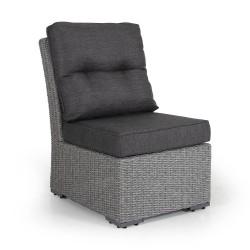 """Плетеный диван """"Ashfield"""" grey, центральная секция"""