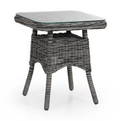 """Плетеный стол """"Rosita"""" grey 50х50"""
