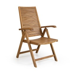 """Кресло из тика """"Volos"""" с откидной спинкой"""