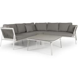 """Мебель """"Sevran"""" из алюминия с угловым диваном"""