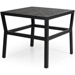 "Стол ""Bergerac"" black 74х74 из алюминия"