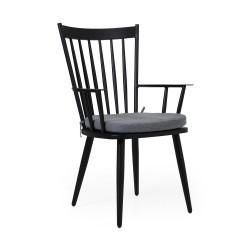 """Кресло """"Alvena"""" black из алюминия"""