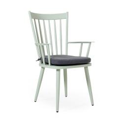 """Кресло """"Alvena"""" green из алюминия"""