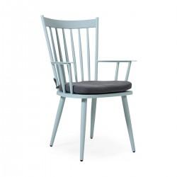 """Кресло """"Alvena"""" blue из алюминия"""