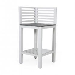 """Модуль """"Bellac"""" white угловой для летней кухни из алюминия"""